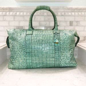 Dooney & Bourke Leather Crocodile Large Duffel Bag